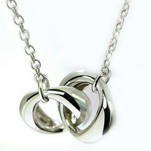 Jewelry - Heart to Heart Rings White Gold Necklace